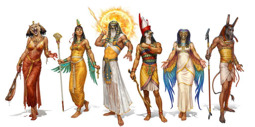 картинки богов египта.